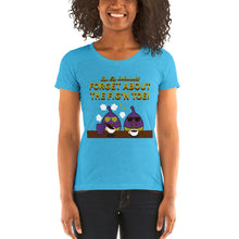 Load image into Gallery viewer, Movie The Food - The Fig Lebowski Women's T-Shirt - Aqua Triblend - Model Front