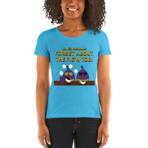 Movie The Food - The Fig Lebowski Women's T-Shirt - Aqua Triblend - Model Front