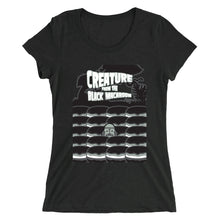 Load image into Gallery viewer, Movie The Food - Creature From The Black Macaroon Women's T-Shirt - Charcoal-black Triblend