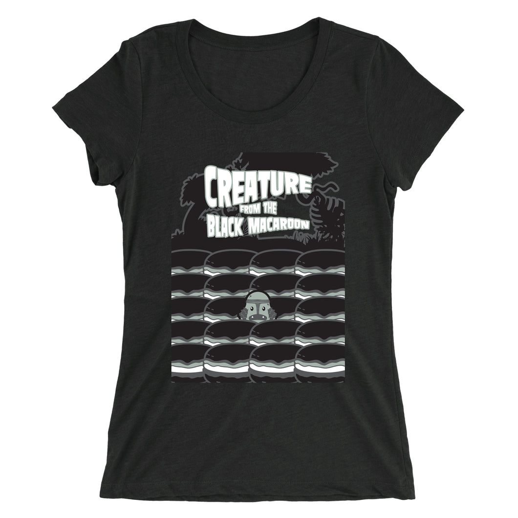 Movie The Food - Creature From The Black Macaroon Women's T-Shirt - Charcoal-black Triblend
