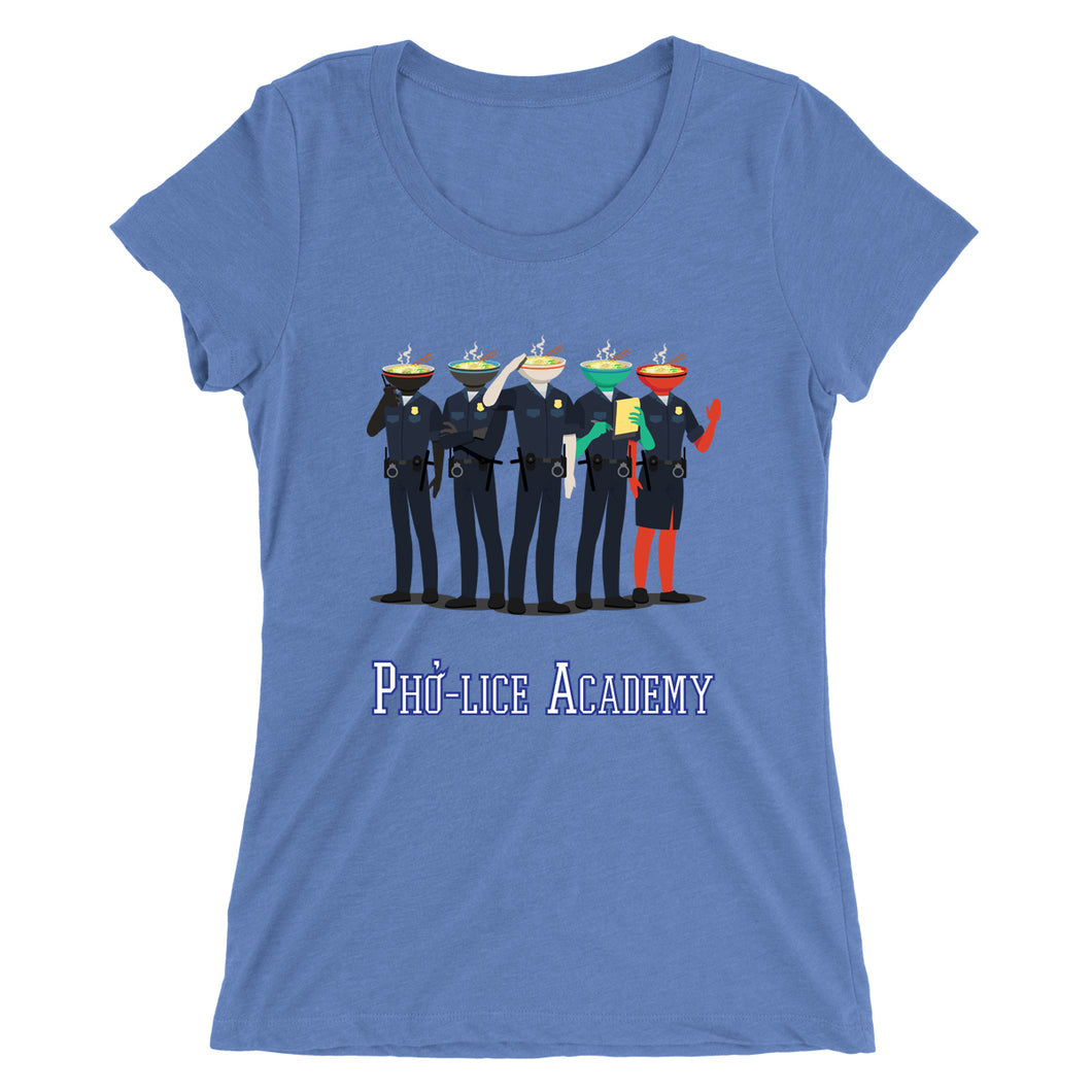 Movie The Food - Pholice Academy Women's T-Shirt - Blue Triblend
