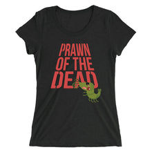 Load image into Gallery viewer, Movie The Food - Prawn Of The Dead Women's T-Shirt - Charcoal-black Triblend