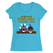 Load image into Gallery viewer, Movie The Food - The Fig Lebowski Women's T-Shirt - Aqua Triblend