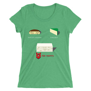 Movie The Food - V For Venfeta St. Patrick's Women's T-Shirt - Green Triblend