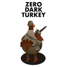 Load image into Gallery viewer, Movie The Food - Zero Dark Turkey T-Shirt - Design Detail