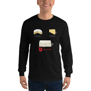 Movie The Food - V For Venfeta Longsleeve T-Shirt - Black - Model Front