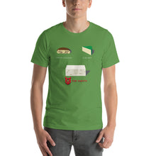 Load image into Gallery viewer, Movie The Food - V For Venfeta St. Patrick's T-Shirt - Leaf - Model Front