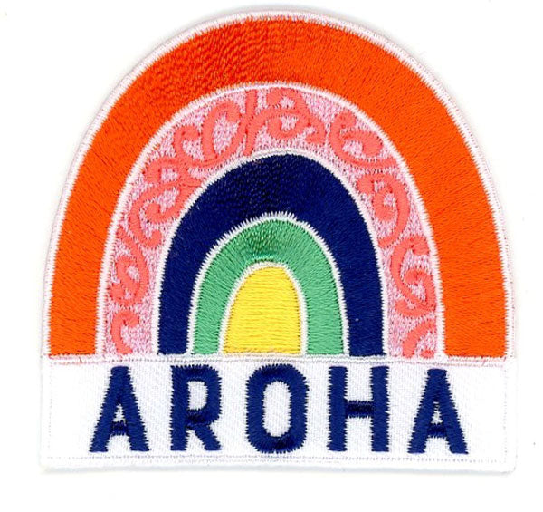 'Aroha' Embroidered Patch
