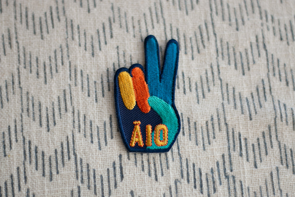 'Āio' Embroidered Patch
