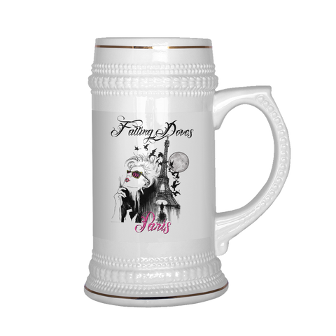Falling Doves - Paris: Beer Stein