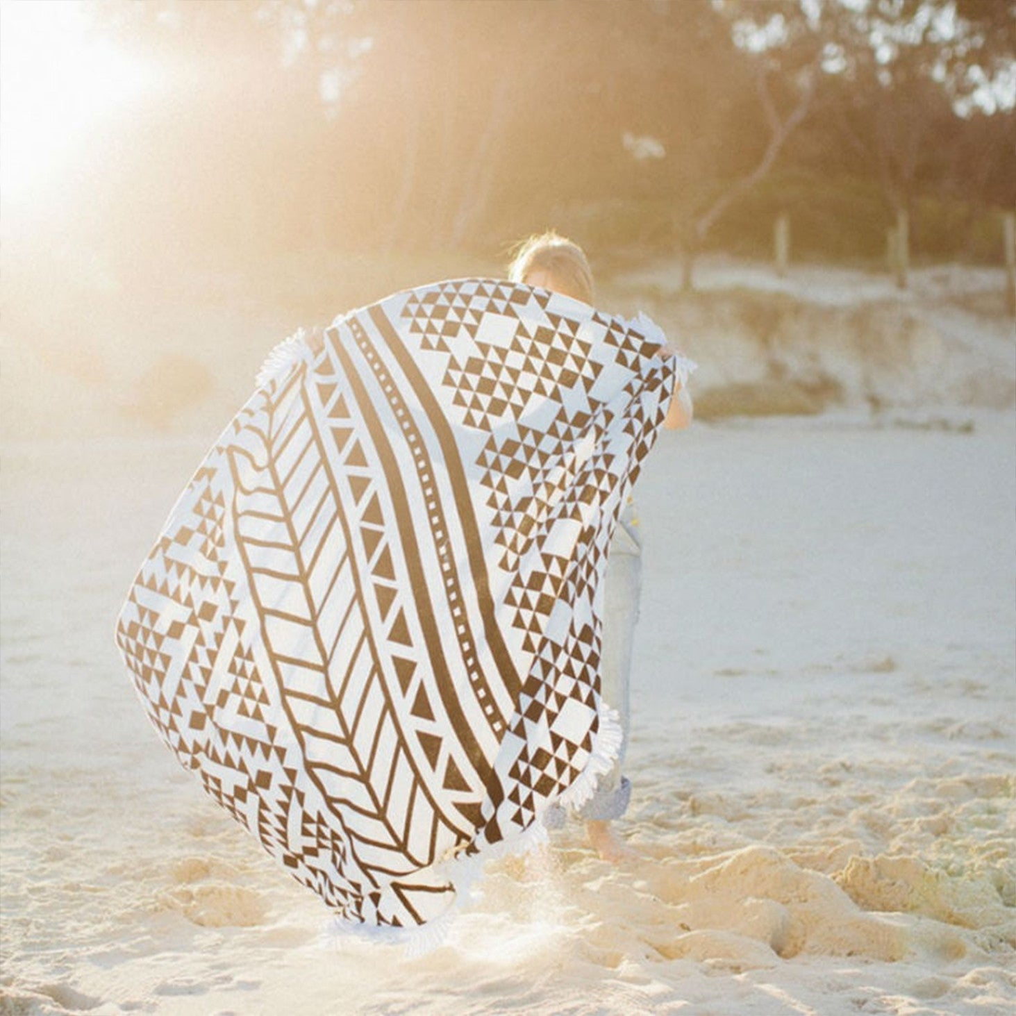 Large Round Tribal Towel