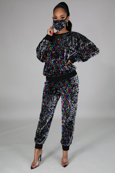 Sparkling All Over 3 Pc Pant Set Final Clearance 65% off No code needed