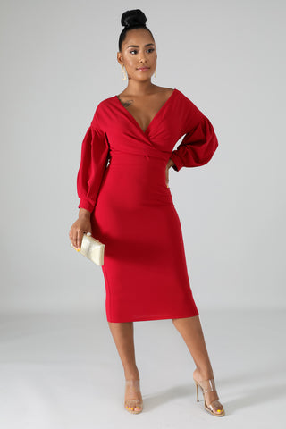 """My, My, My"" Red Dress *clearance*"