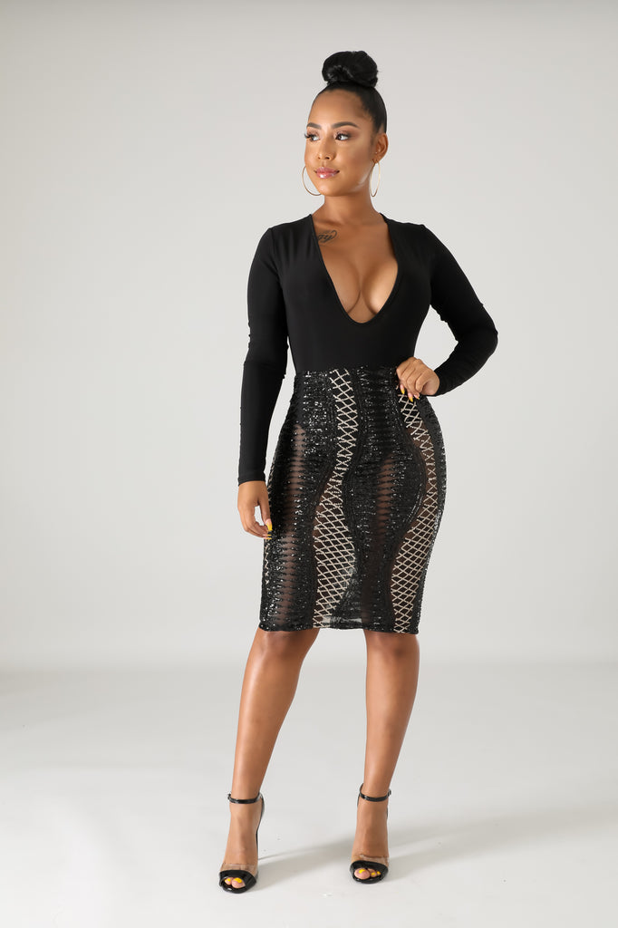 Sequin Body-con Dress *clearance*