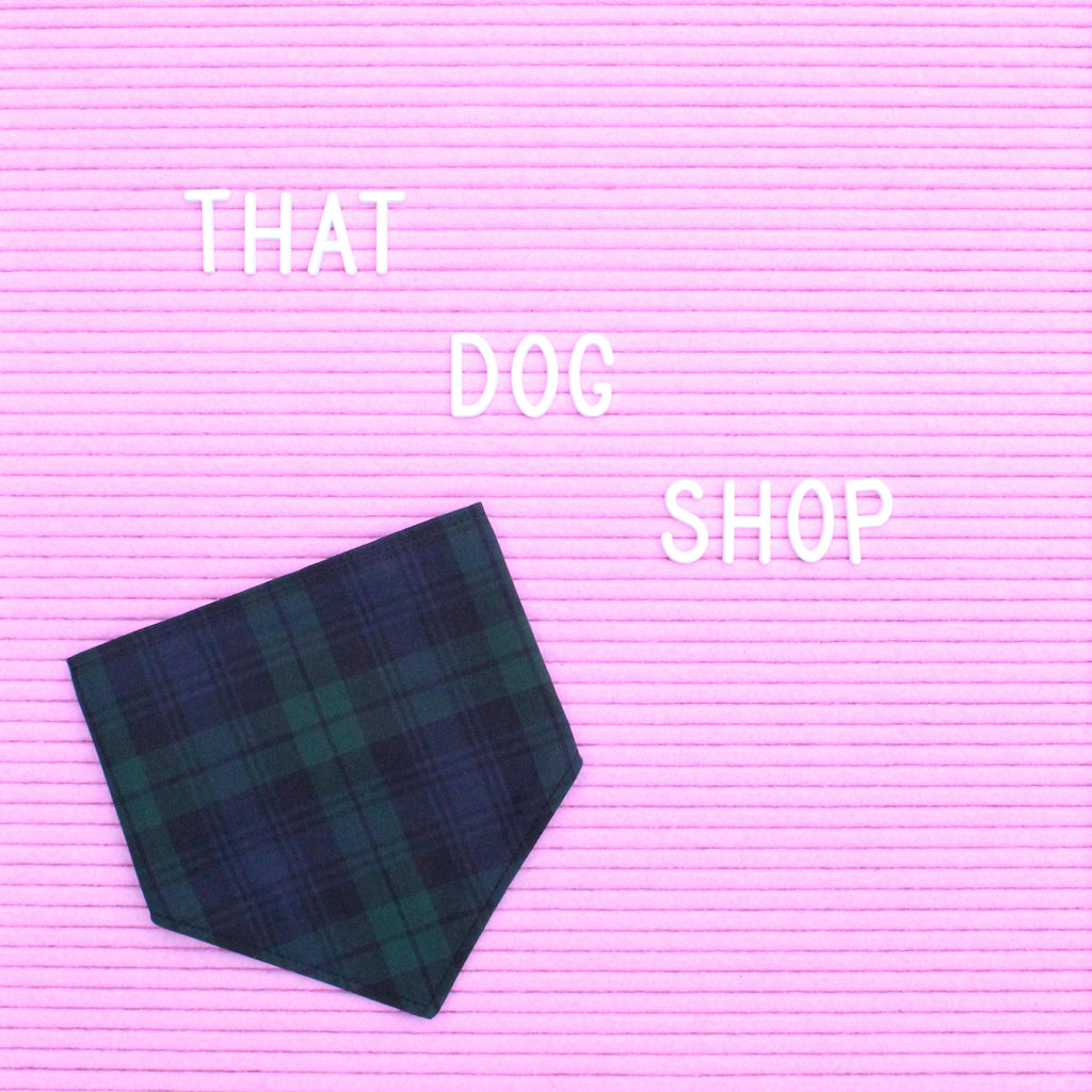 That Dog Shop Dog Bandana - Blackwatch Tartan