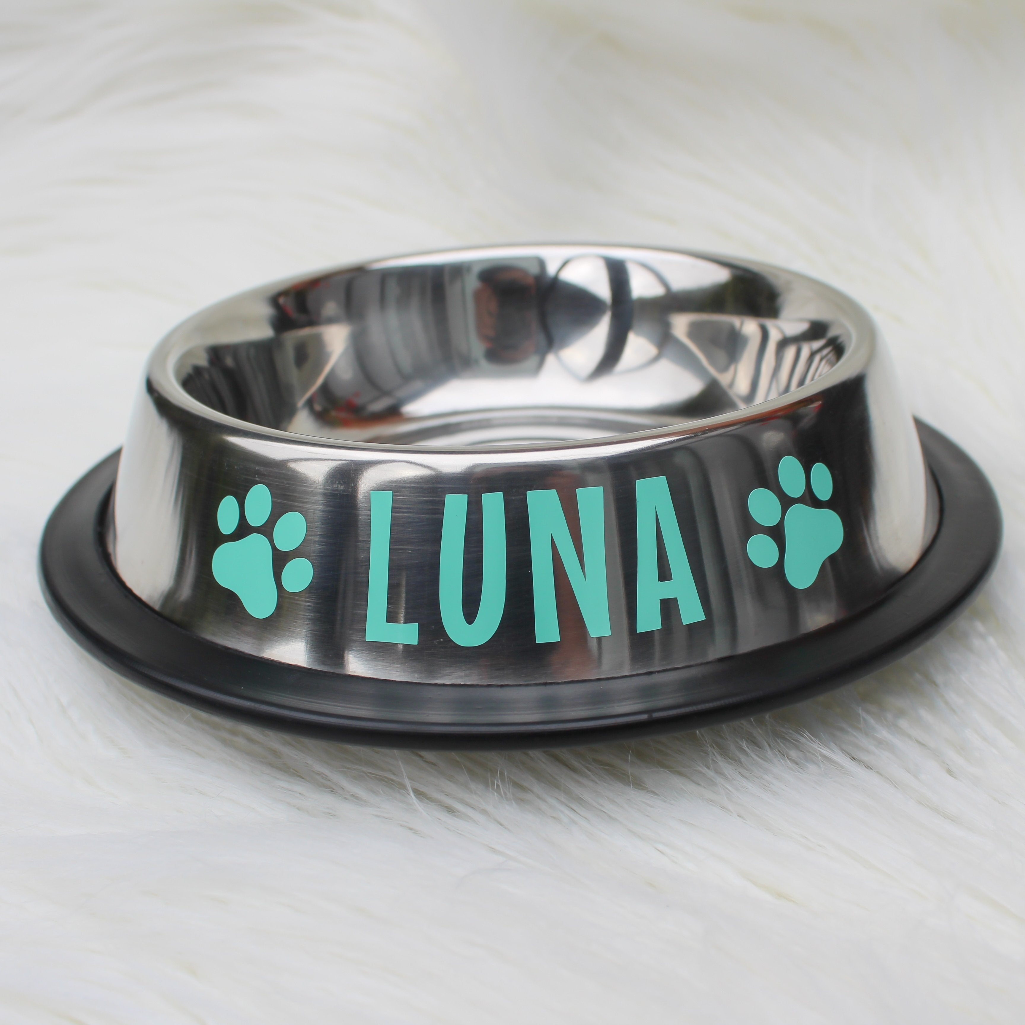 Personalised Dog Bowl - Stainless Steel-That Dog Shop