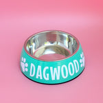 Personalised Dog Bowl - Melamine/Stainless Steel - Small-That Dog Shop