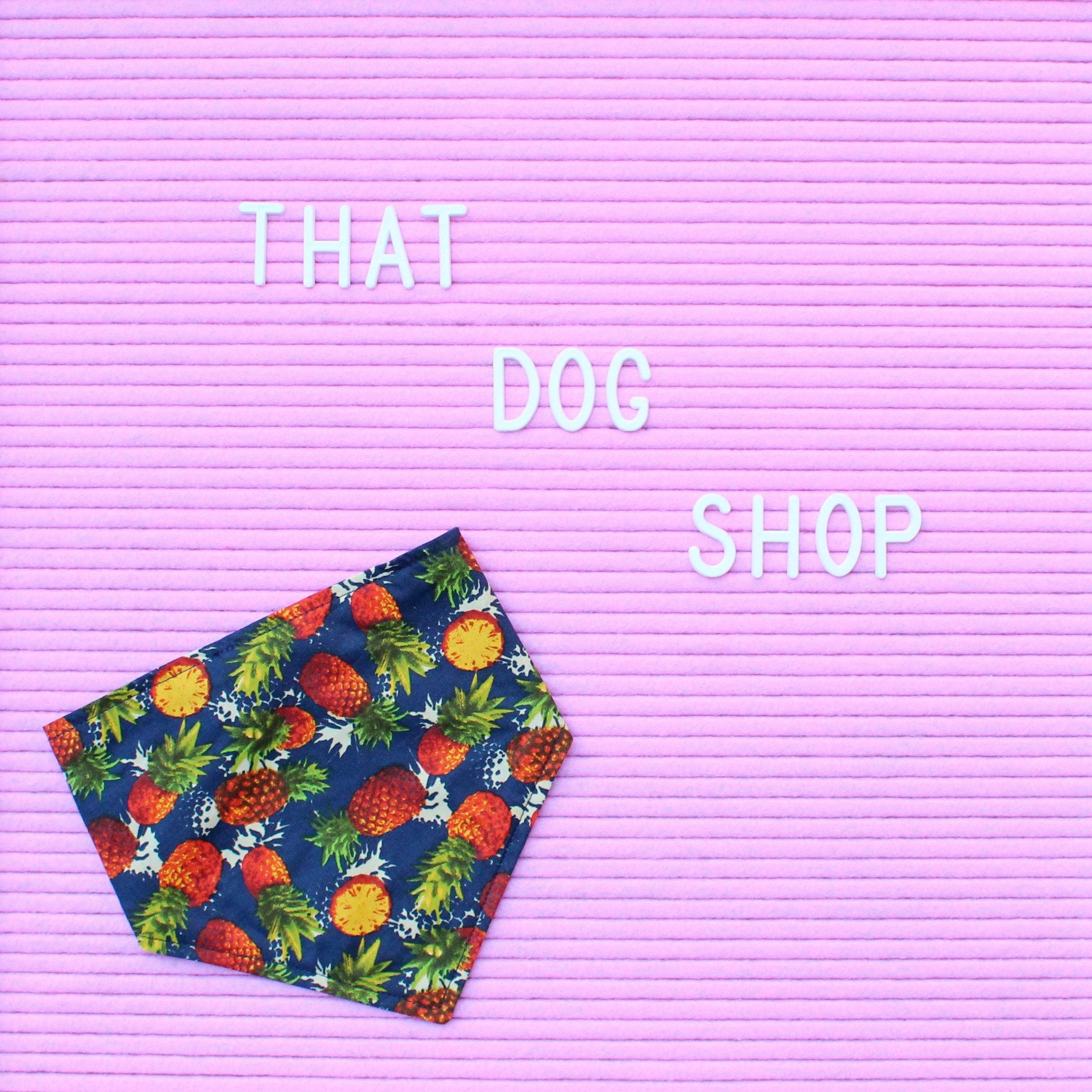 Dog Bandana - Pineapple Party-That Dog Shop