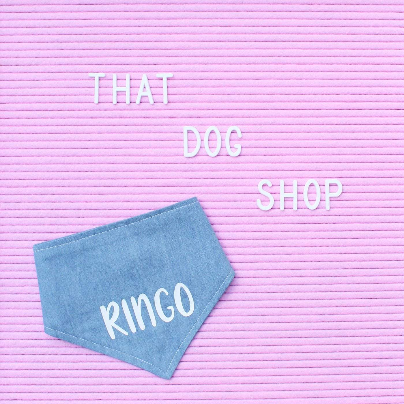 Dog Bandana - Chambray Denim-That Dog Shop