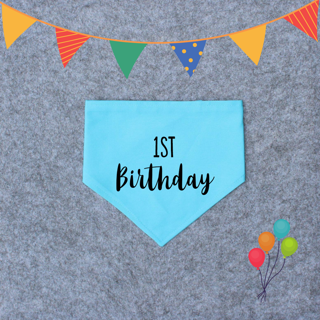 Birthday Dog Bandana - Custom Birthday Bandana