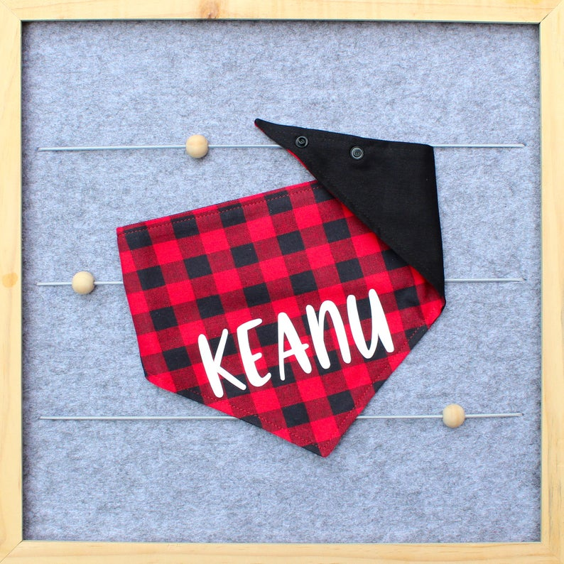 Dog Bandana - Red/Black Buffalo Check