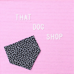 Dog Bandana - Bone Print-That Dog Shop