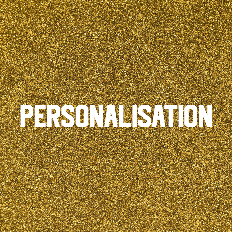 Personalisation - If this item is removed from the cart, your order will not be personalised.