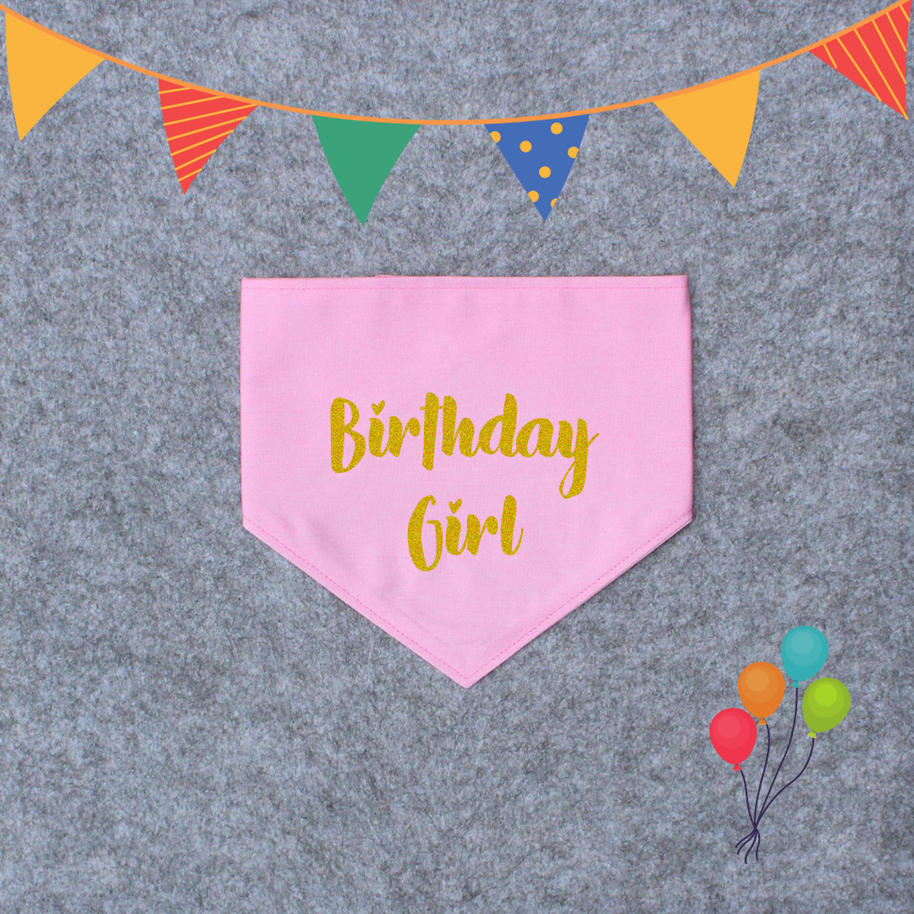 That Dog Shop Birthday Dog Bandana - Birthday Girl/Birthday Boy