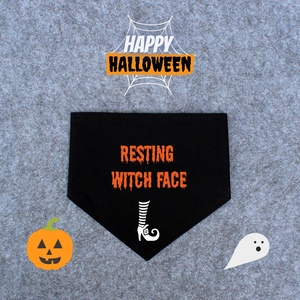 Halloween Dog Bandana - Resting Witch Face