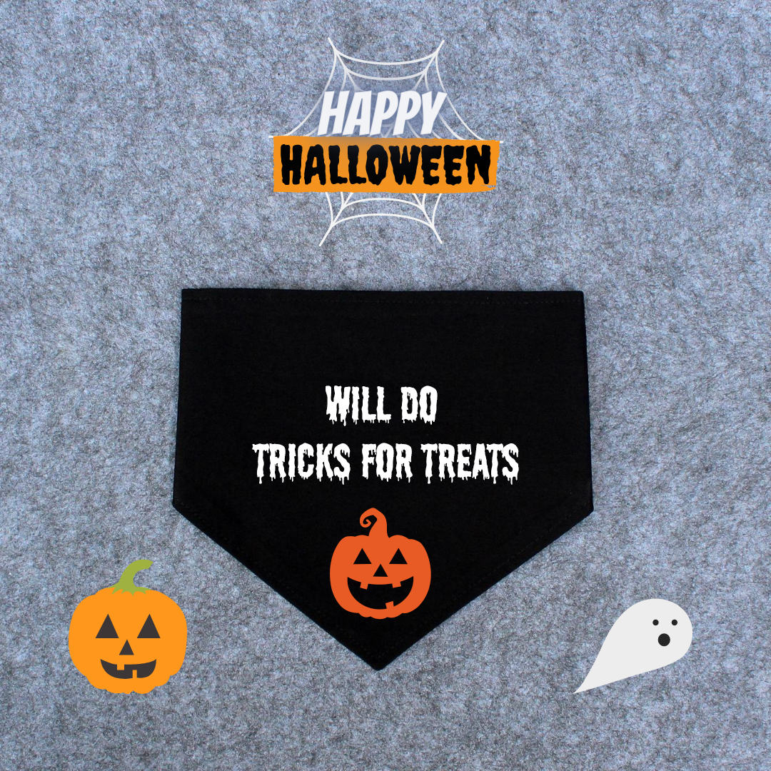 Halloween Dog Bandana - Will Do Tricks For Treats