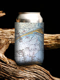Neoprene Map Can Cooler
