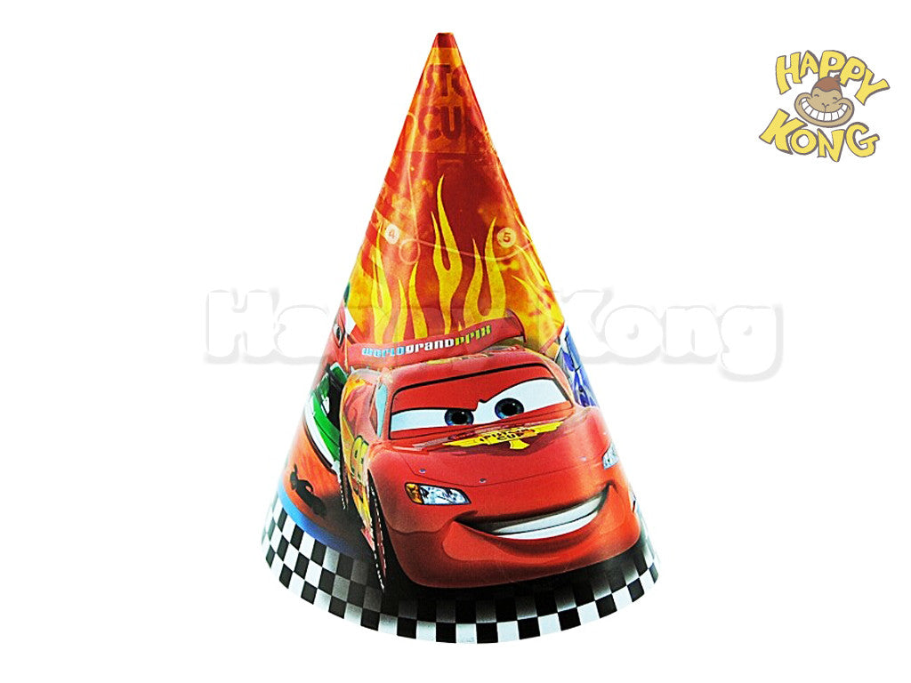 disney official cars 2 party hat pack of 8 happy kong nz