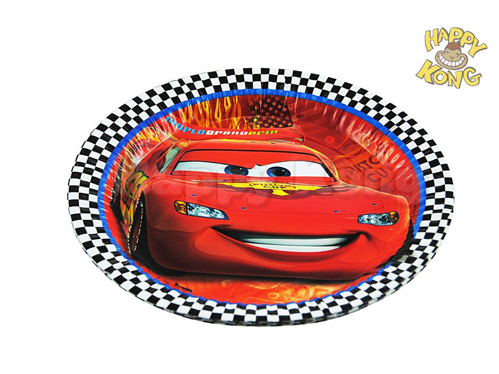 disney official cars 2 party plate pack of 8 happy kong nz