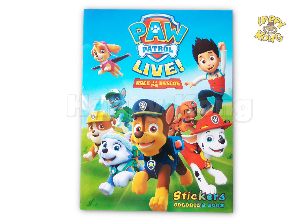 Paw Patrol Colouring Activity And Stickers Book
