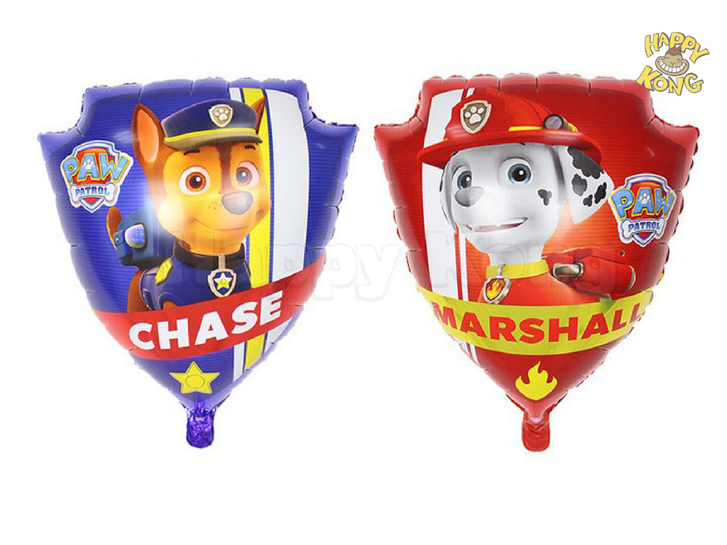 Paw Patrol Badge Large Foil Balloon For Birthday Party Decoration