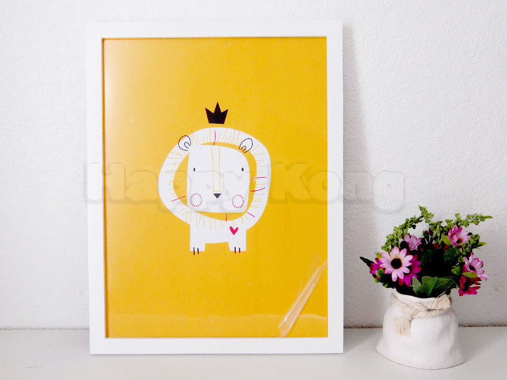 Canvas wall art with frame - Lion – Happy Kong NZ