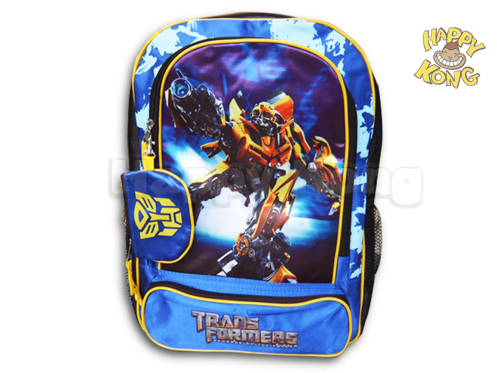 Transformer Bumble Bee backpack School bag with Coin purse