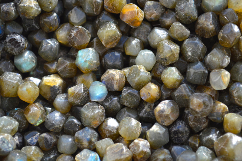 20pcs Special African Labradorite from Madagascar | Rainbow Moostone beads