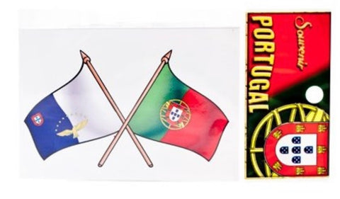 AÇORES AND PORTUGAL FLAG STICKER
