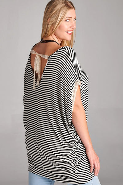 Curvy- I'm The One Striped Tunic