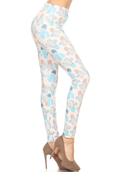 Regular Leggings~ Potted Cactus