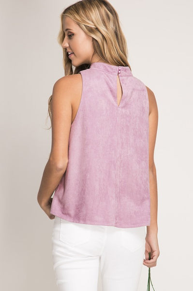 Hello There Suede Tank