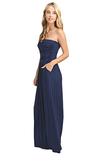 Never Quit Strapless Maxi Dress* Multiple Color Options