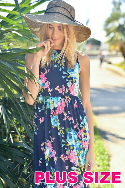 Curvy~ Brand New Day Floral Maxi