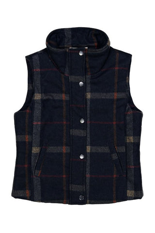 Country Cabin Plaid Vest