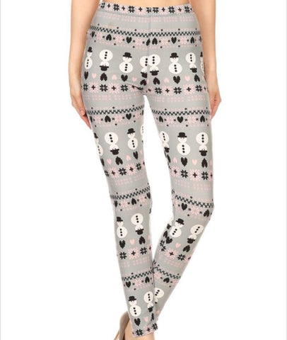 Regular Leggings~ Snowman