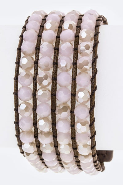 Laced Beads Layer Cuff (Pink or green)