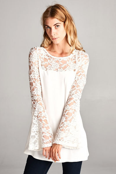 Attention Seeker Lace Bell Sleeves