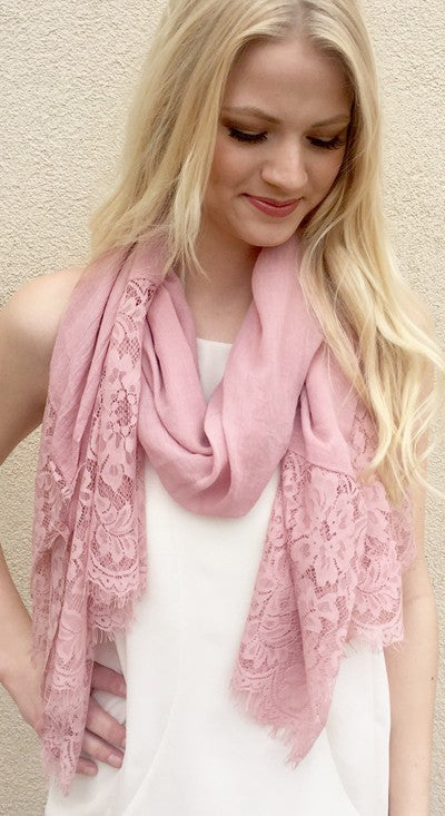 Lace Detail Scarf
