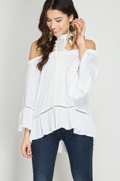 Blessed Lace Choker Tunic
